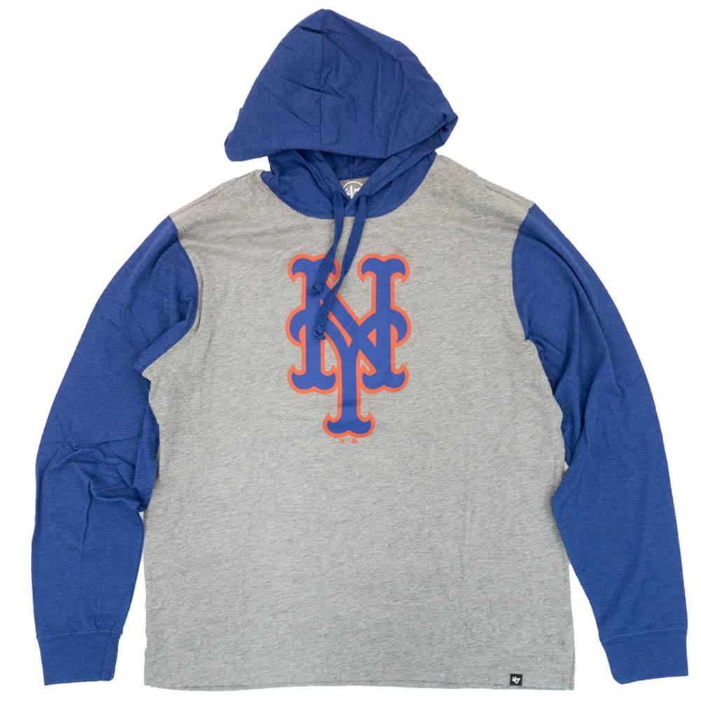 あす楽対応 スポーツに最適なMLBのTシャツパーカー 価格 MLB ニューヨーク メッツ パーカー お買い得品 フーディー 47 Club グレー Brand Callback Imprint Hoodie