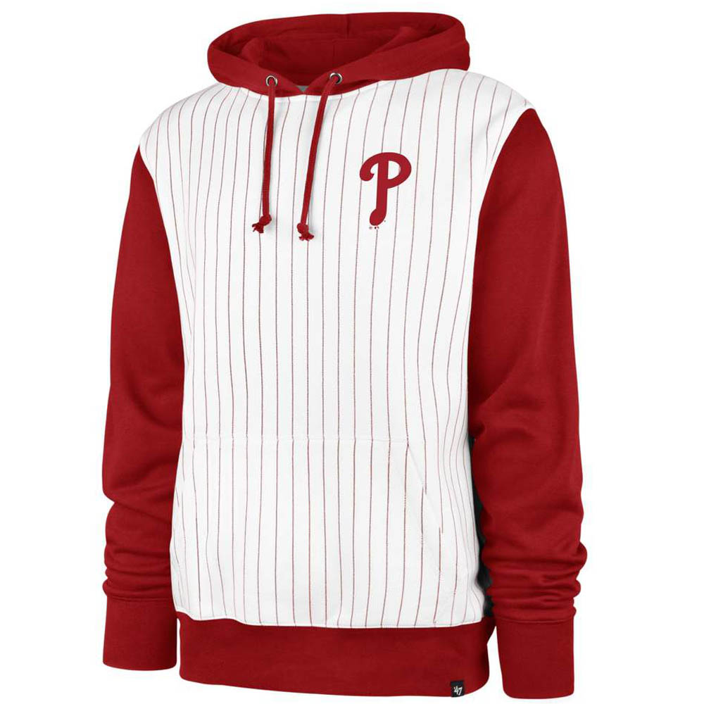 MLB フィラデルフィア・フィリーズ パーカー/フーディー Imprint LC Pinstripe Hoodie 47 Brand ホワイト