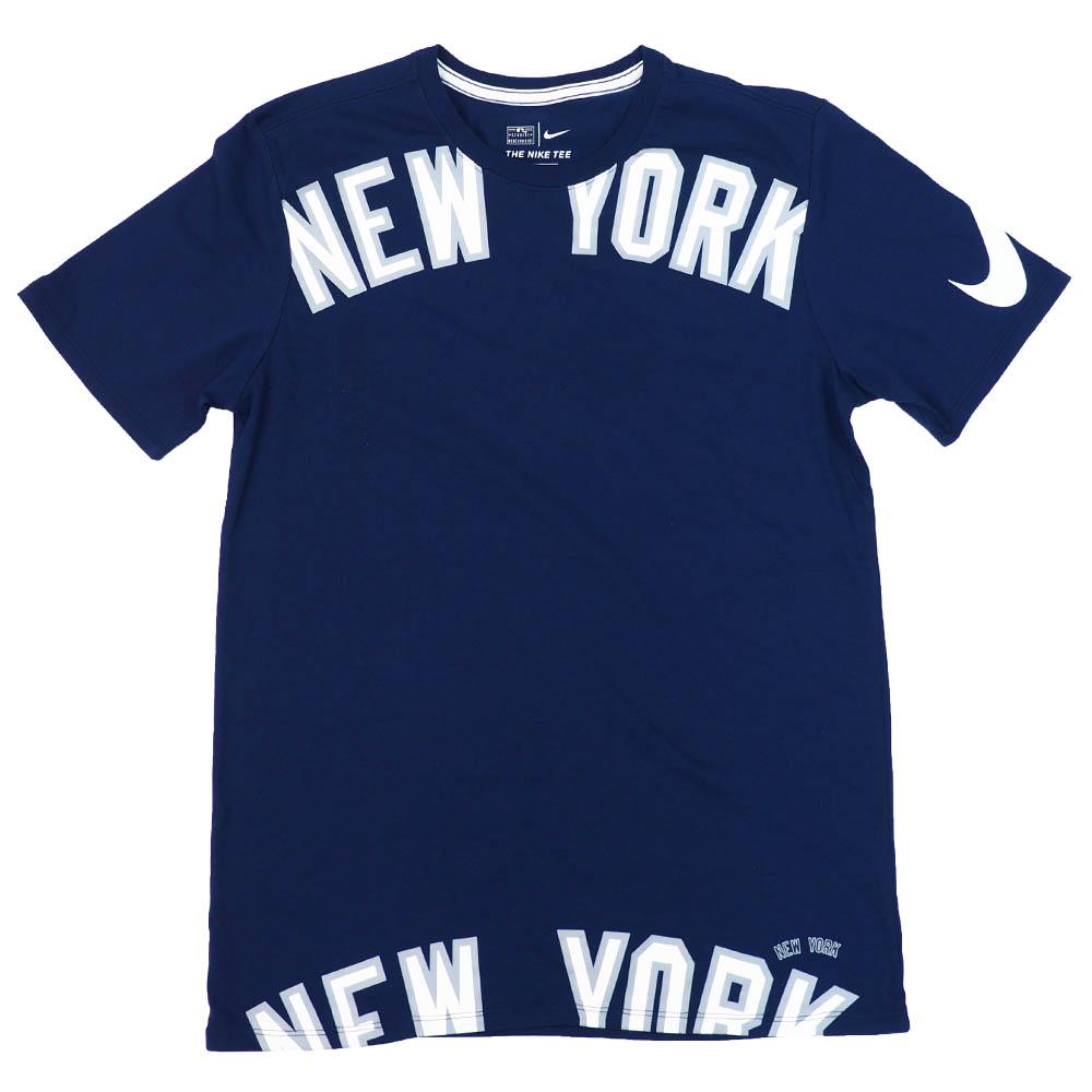 MLB ニューヨーク・ヤンキース Tシャツ ショルダー スウォッシュ ナイキ/Nike カレッジネイビー