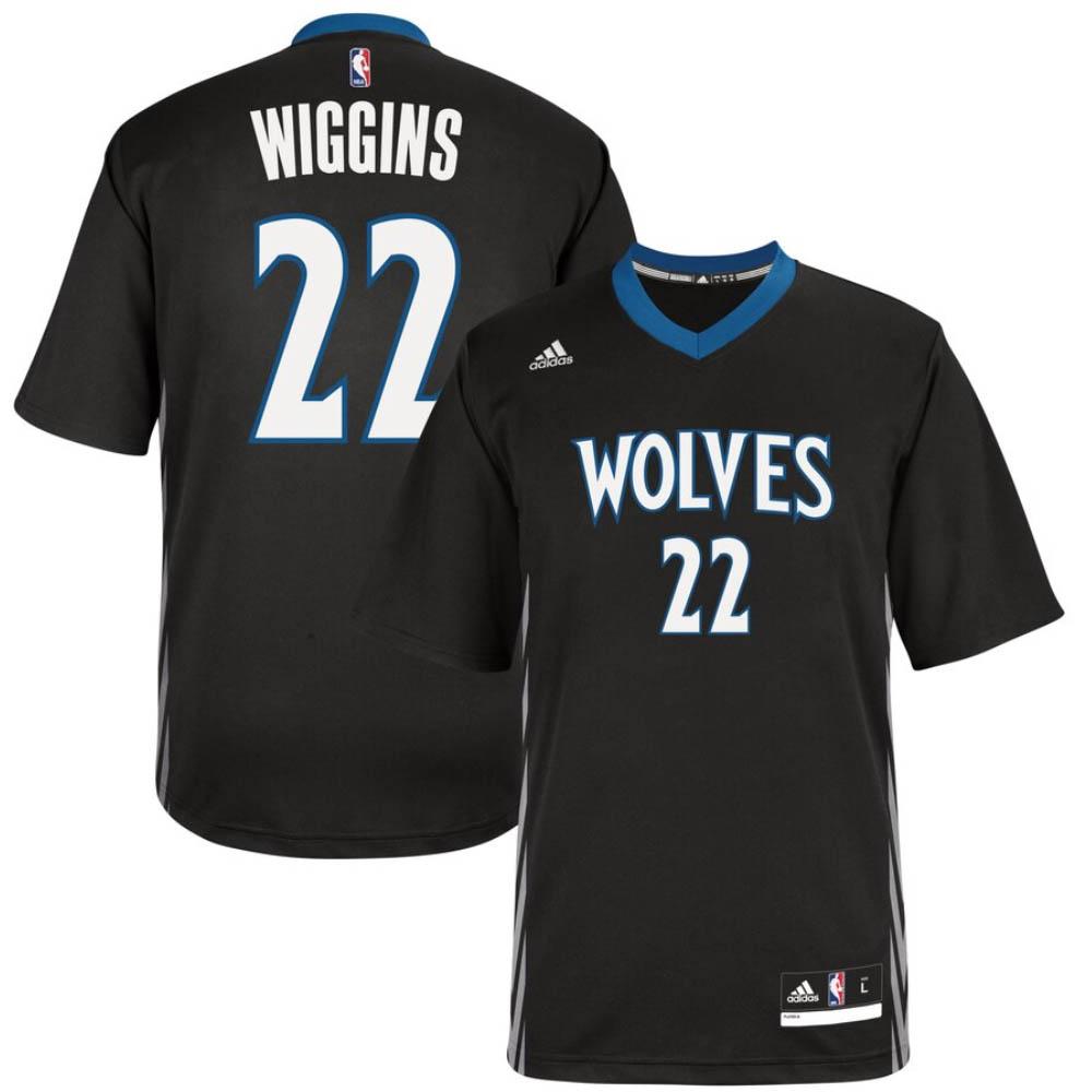 NBA アンドリュー・ウィギンズ ミネソタ・ティンバーウルブズ ユニフォーム/ジャージ Swingman Jersey アディダス/Adidas ブラック