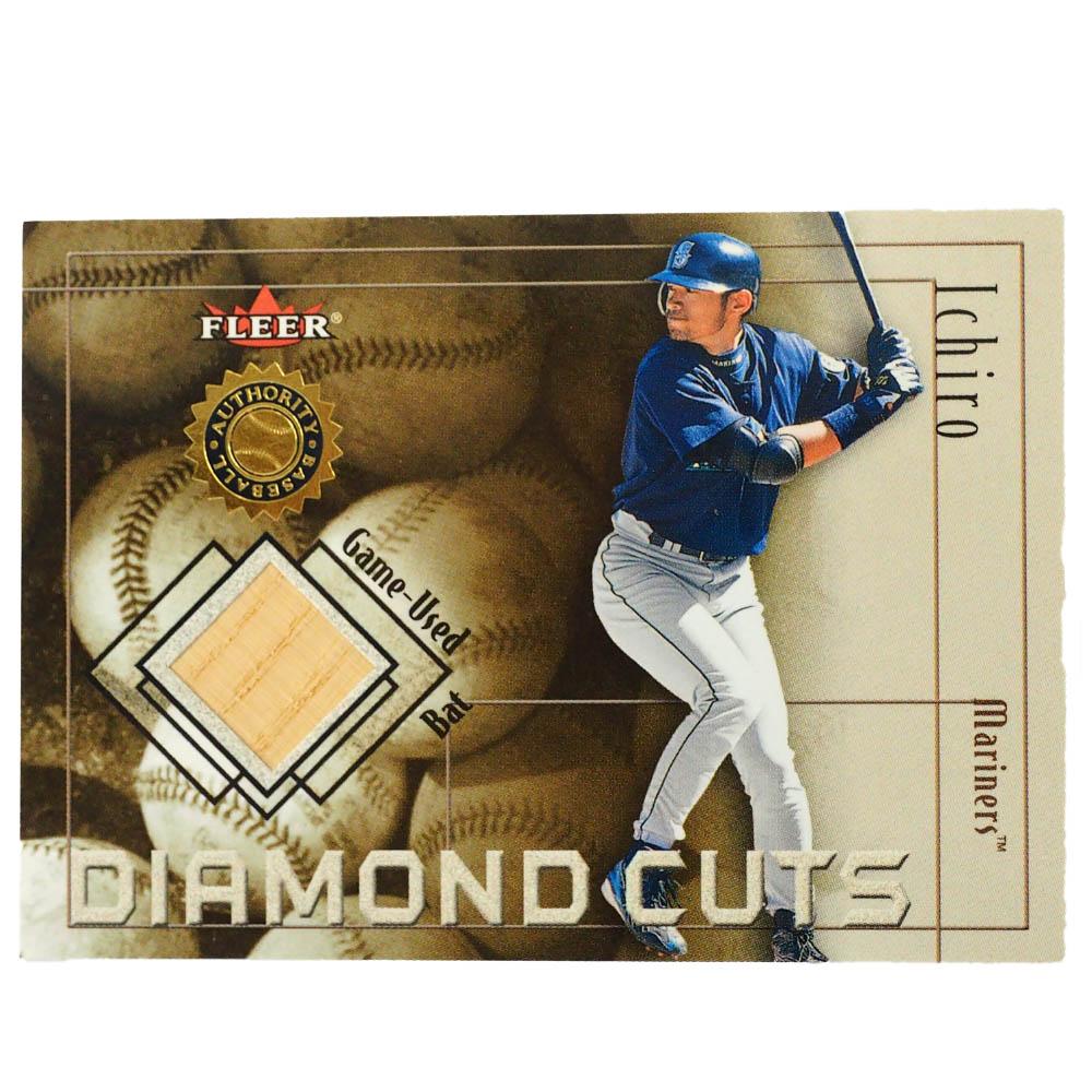 MLB イチロー シアトル・マリナーズ トレーディングカード/スポーツカード Rookie 2001 Diamond Cut Used Bat Ichiro Fleer