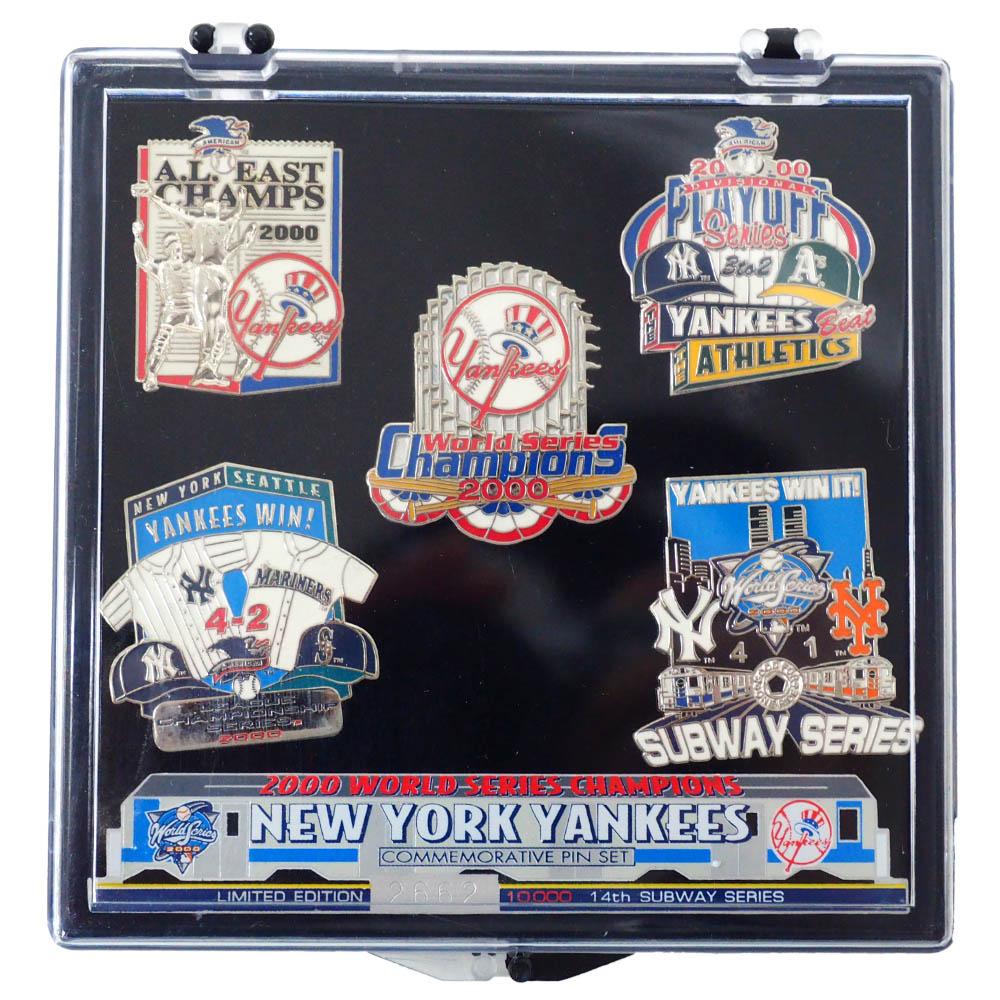MLB ニューヨーク・ヤンキース 2000 World Series Champion Commemorative 5 Pin Set ピンズセット PSG