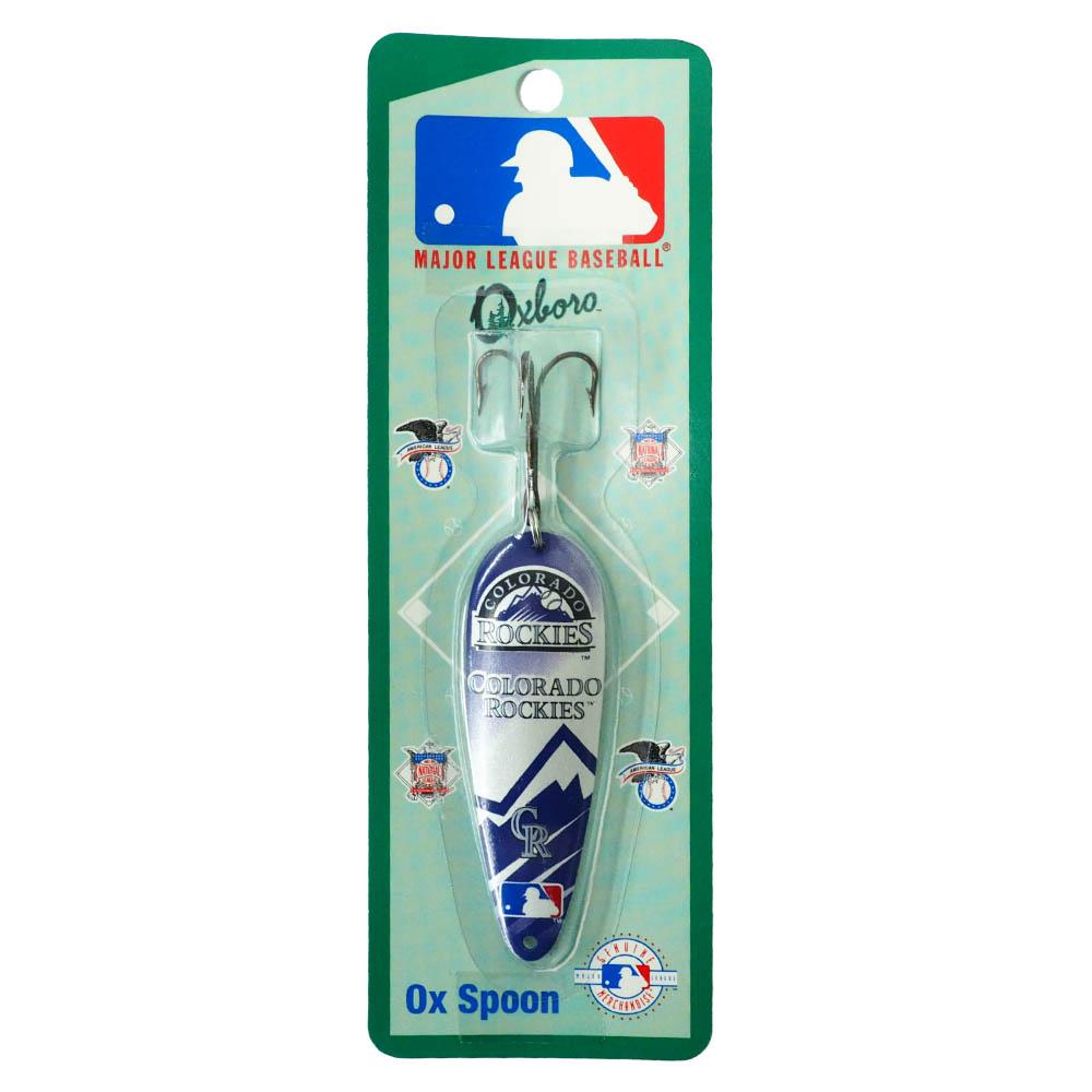 未使用 超定番 あす楽対応 MLBチームロゴ入りフィッシングルアー MLB コロラド ロッキーズ フィッシング Spoon Ox ルアー
