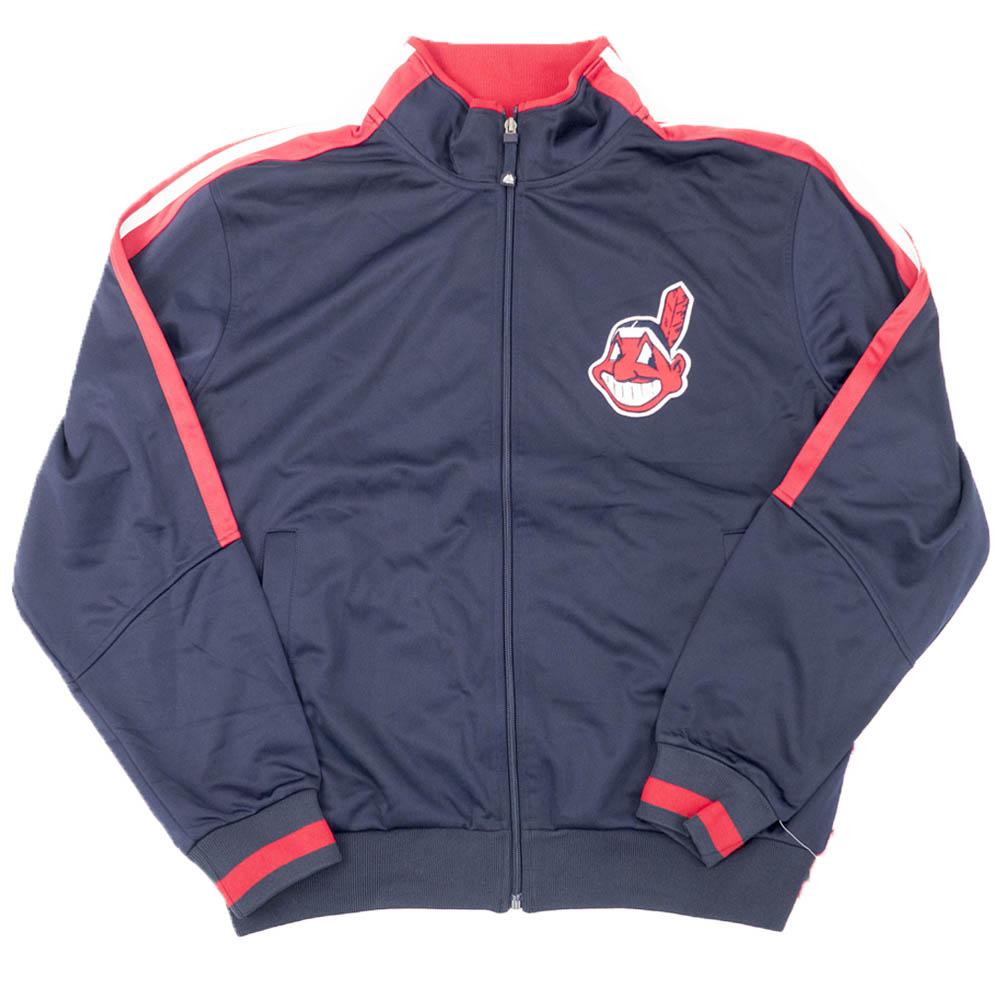 【リニューアル記念メガセール】MLB クリーブランド・インディアンス ジャケット/アウター Authentic Track Jacket (DS) マジェスティック/Majestic ネイビー