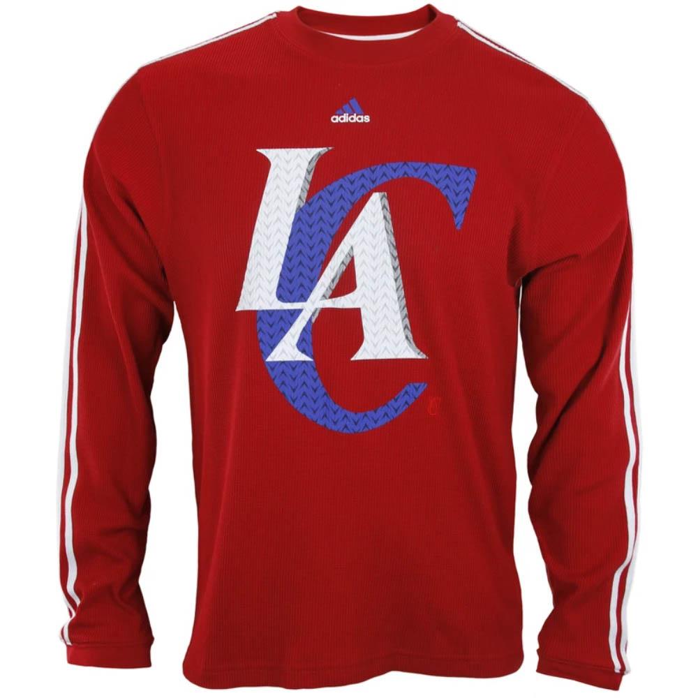 NBA ロサンゼルス・クリッパーズ Tシャツ Long Sleeve Thermal アディダス/Adidas レッド
