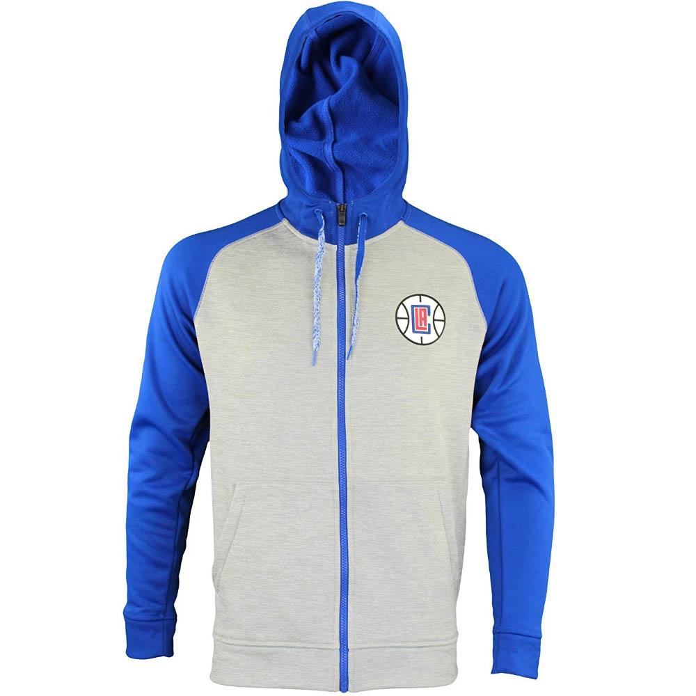 NBA ロサンゼルス・クリッパーズ パーカー/フーディー Full Zip Tech Fleece Climawarm Jacket フルジップ アディダス/Adidas グレー