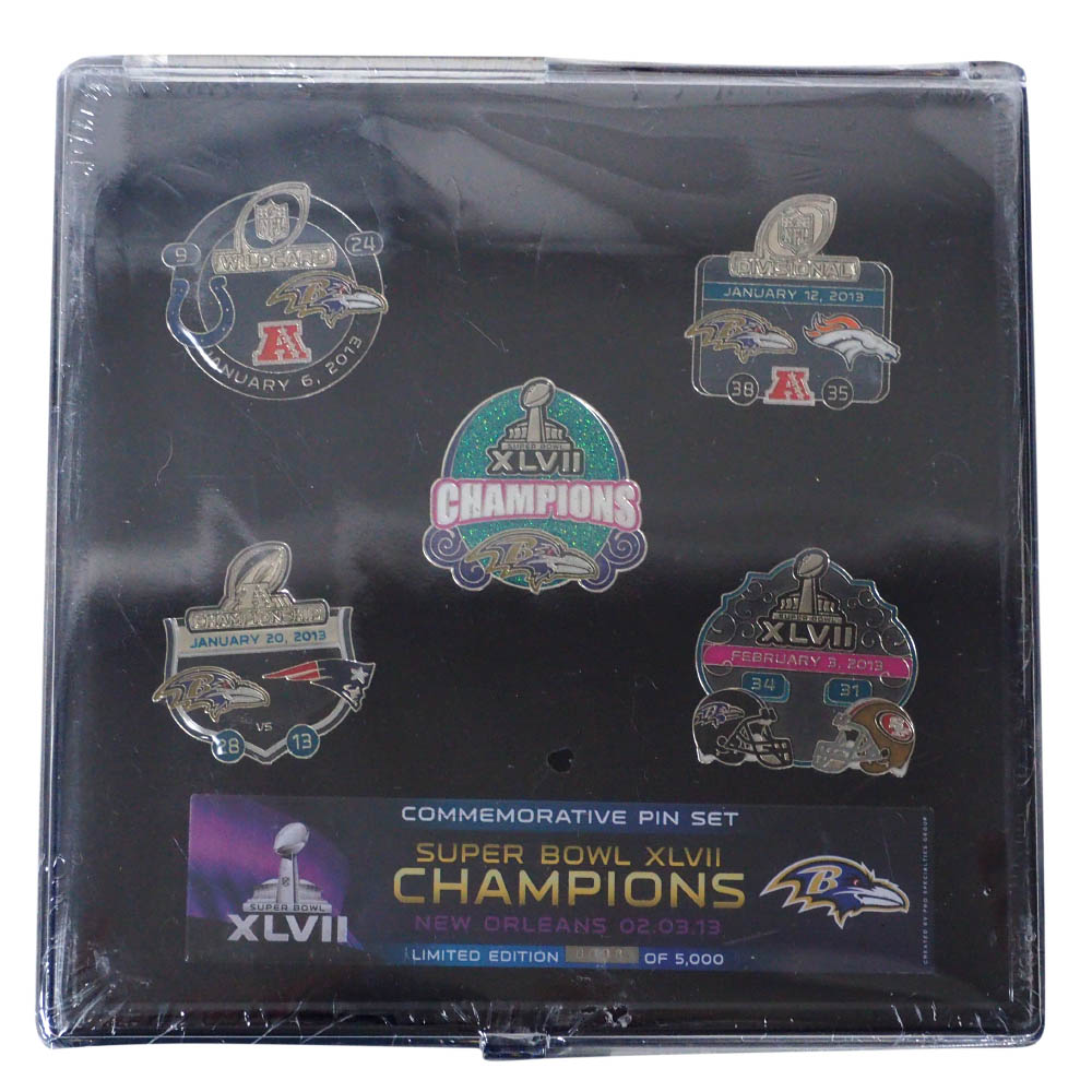 NFL レイブンズ 第47回スーパーボウル Champions Commemorative 5 Pin Set ピンズセット PSG