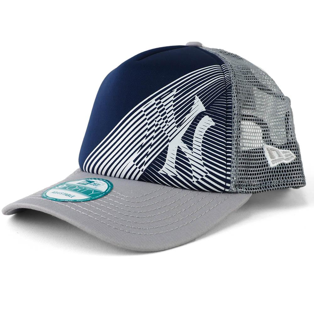 あす楽対応 ヤンキース x 推奨 オークリー ニューエラ コラボキャップ MLB ニューヨーク キャップ 帽子 メッシュ ネイビー Era トラッカー 格安店 グレー 9FORTY New