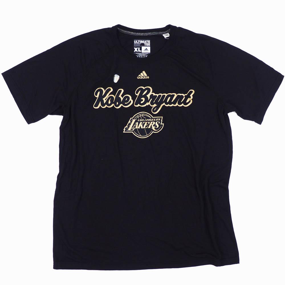 NBA コービー・ブライアント ロサンゼルス・レイカーズ Tシャツ コービー マンバ パターン アディダス/Adidas ブラック/ゴールド
