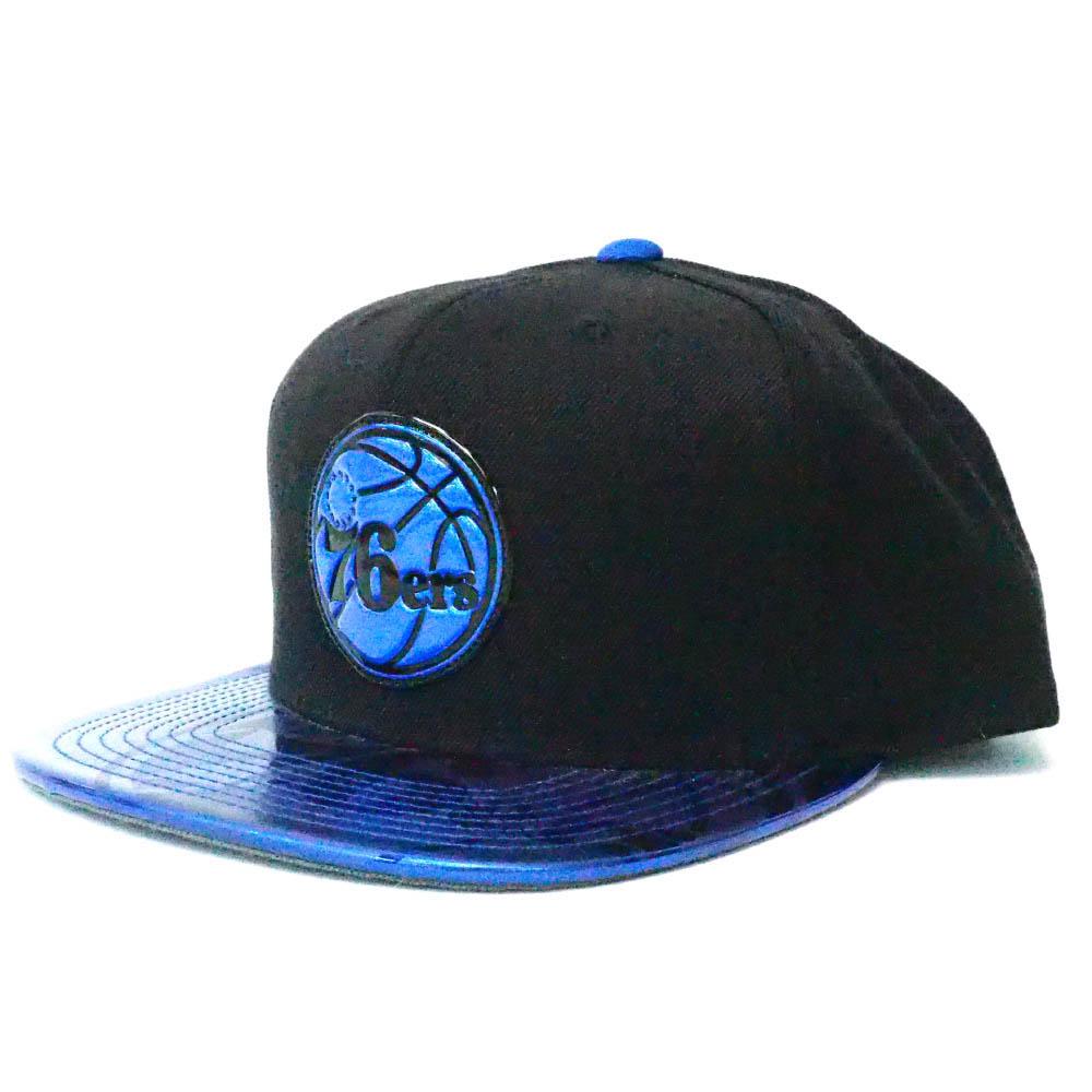 NBA フィラデルフィア・76ers キャップ/帽子 Team Standard アジャスタブル スナップバック ミッチェル&ネス/Mitchell & Ness ブラック
