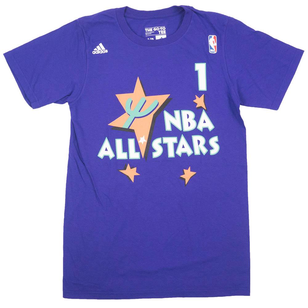 NBA アンファニー・ハーダウェイ オーランド・マジック Tシャツ All-Star 1995 Name Number T-Shirt アディダス/Adidas パープル