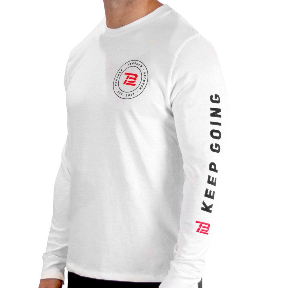 TB12 トム・ブレイディ Tシャツ Keep Going Long-Sleeve TB12 ホワイト