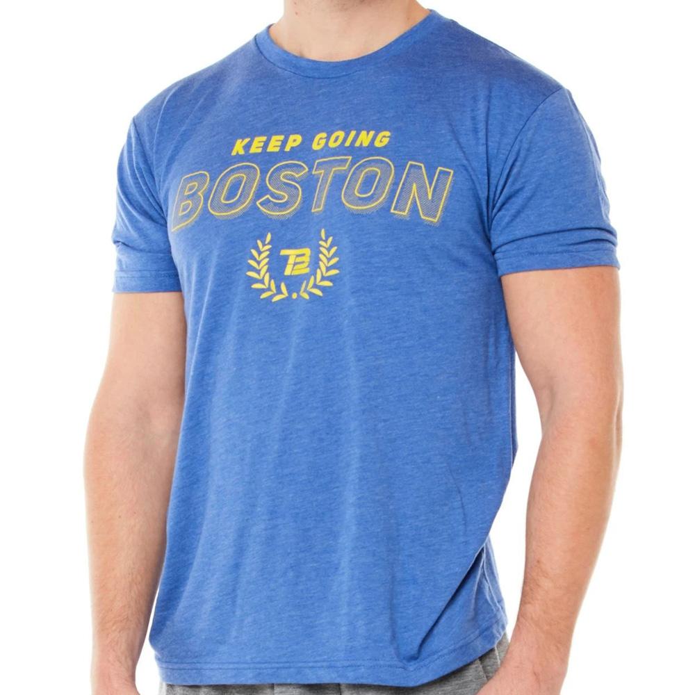 TB12 トム・ブレイディ Tシャツ Boston 2020 TB12 ブルー