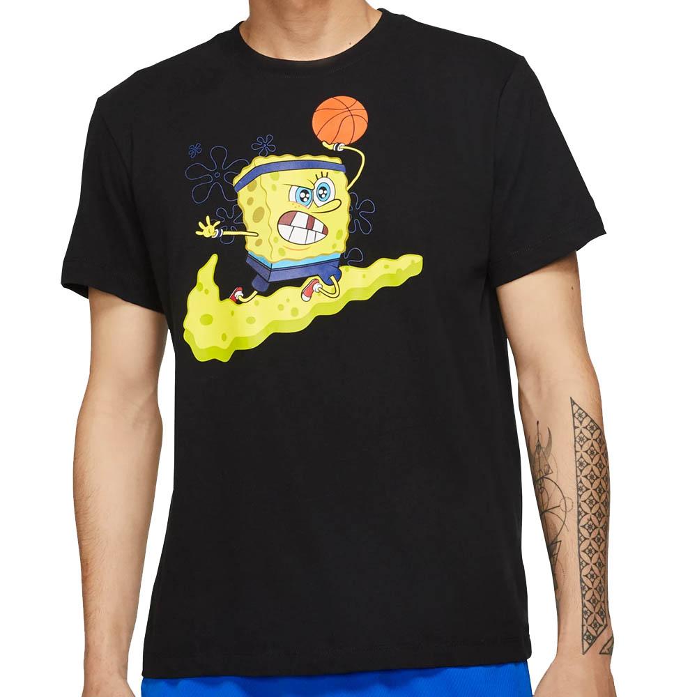 ナイキ カイリー/NIKE KYRIE カイリー・アービング Tシャツ スポンジボブ スクエアパンツ ブラック CD0947-010