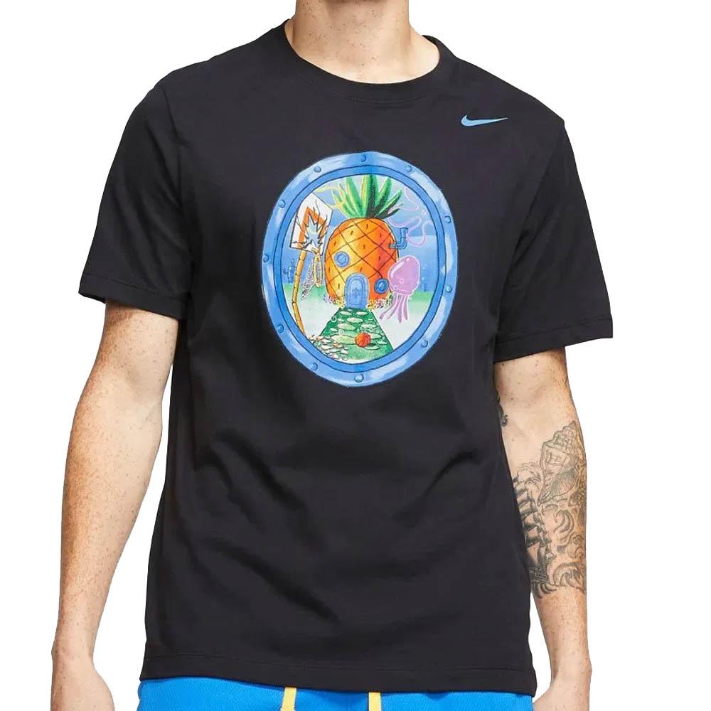 ナイキ カイリー/NIKE KYRIE カイリー・アービング Tシャツ スポンジボブ パイナップルハウス ブラック CU3537-010