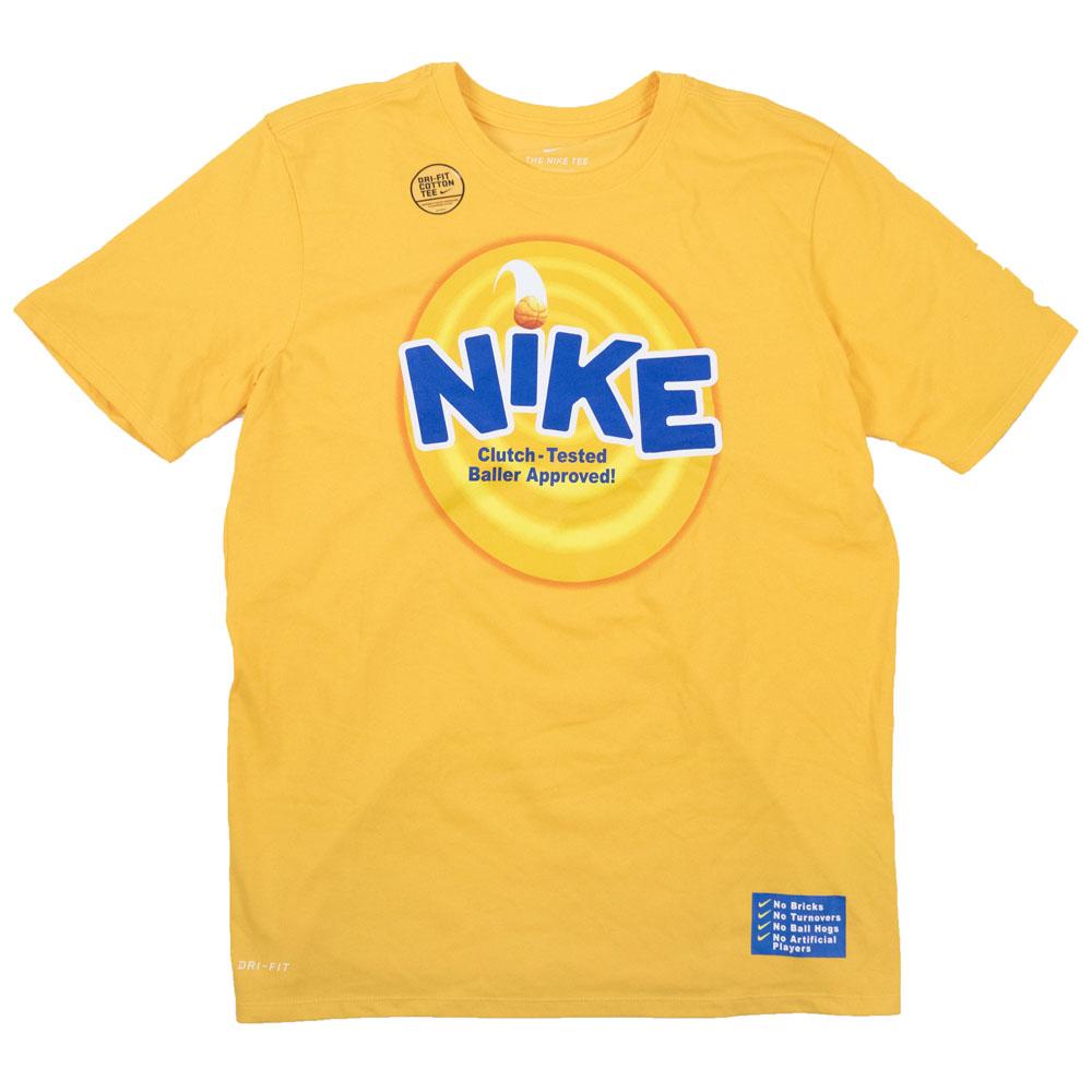 ナイキ カイリー/NIKE KYRIE カイリー・アービング Tシャツ 4 キックス シリアル ドライフィット イエロー BV3147-739