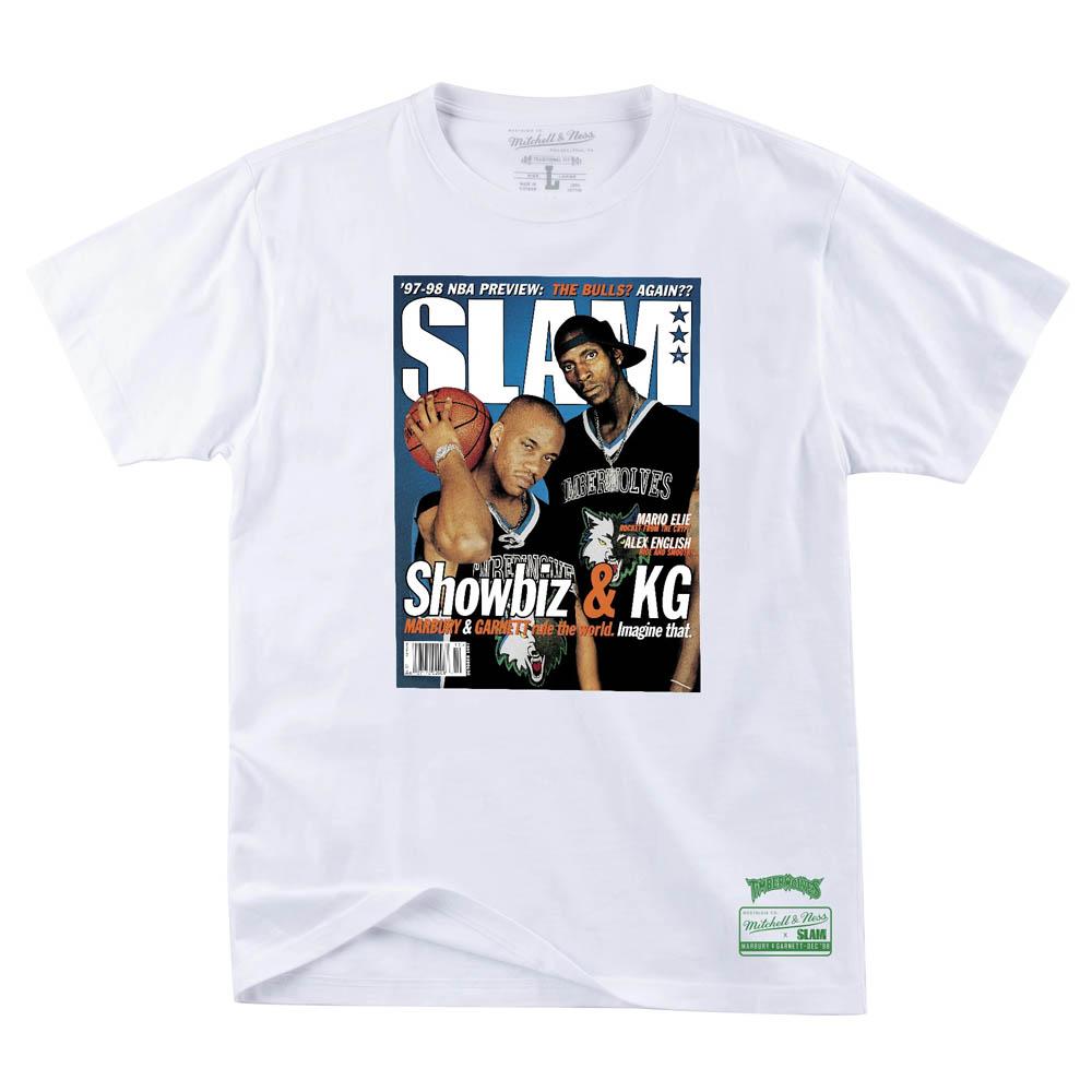NBA ケビン・ガーネット/ ステフォン・マーブリー Tシャツ スラム カバー グラフィック ミッチェル&ネス/Mitchell & Ness