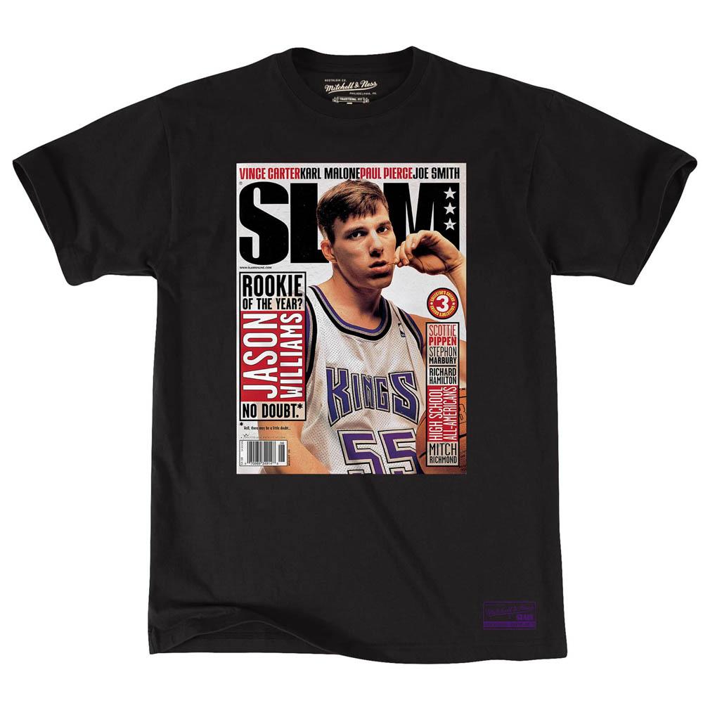 NBA ジェイソン・ウィリアムス サクラメント・キングス Tシャツ スラム カバー グラフィック ミッチェル&ネス/Mitchell & Ness