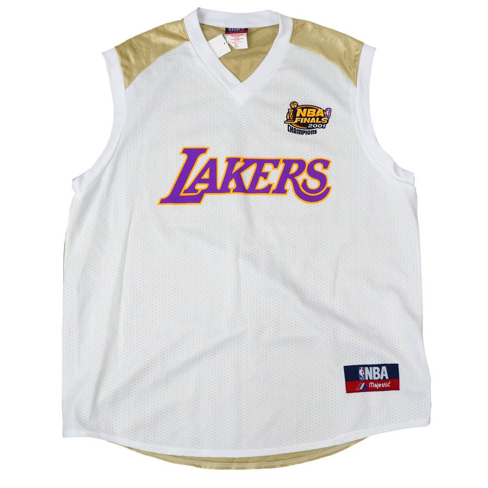 NBA シャキール・オニール ロサンゼルス・レイカーズ ユニフォーム/ジャージ Final 2001 Replica Jersey マジェスティック/Majestic ホワイト