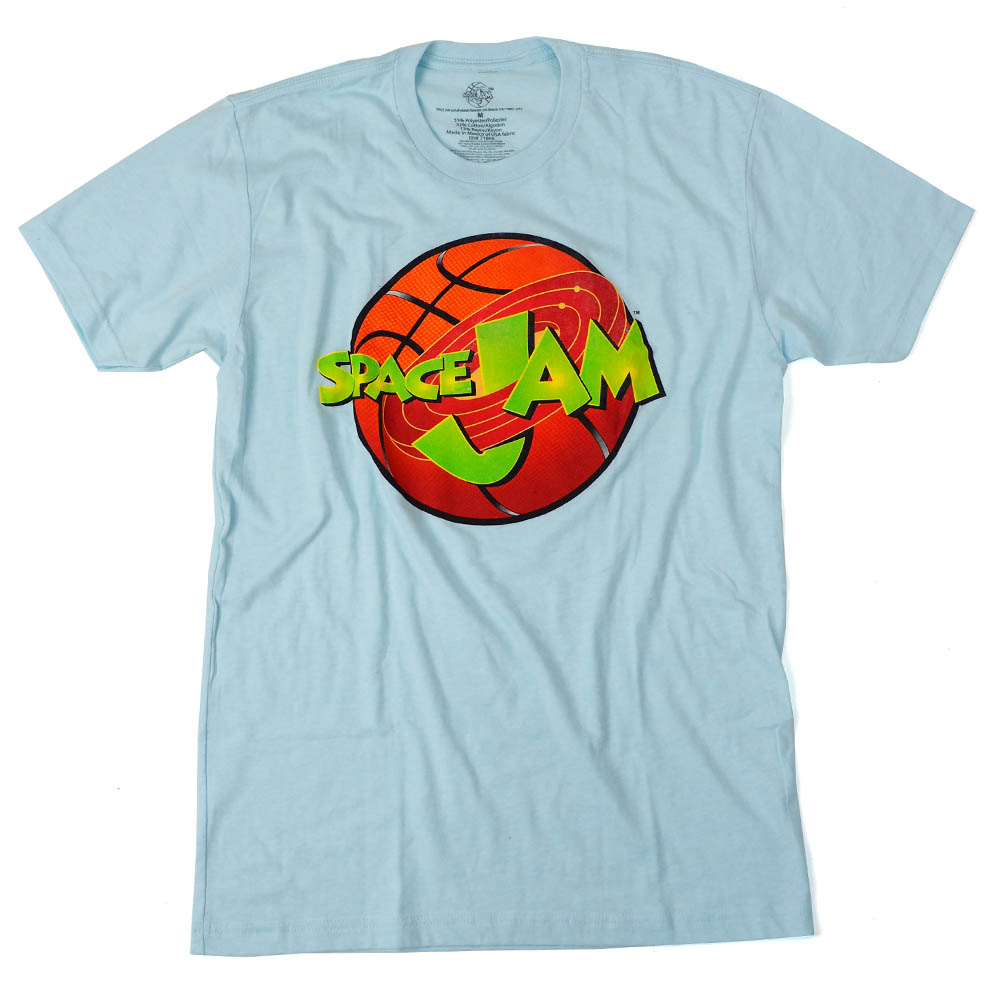 スペース・ジャム Movie Tシャツ スペース・ジャム ベースボール ロゴ ライトブルー