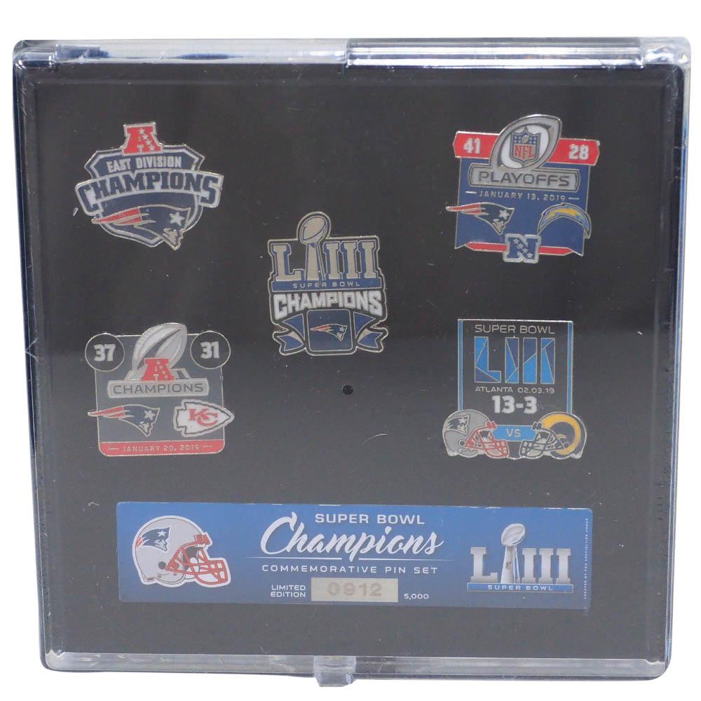 NFL ペイトリオッツ ピンバッチ 第53回スーパーボウル 優勝記念 Commemorative Pin Set PSG