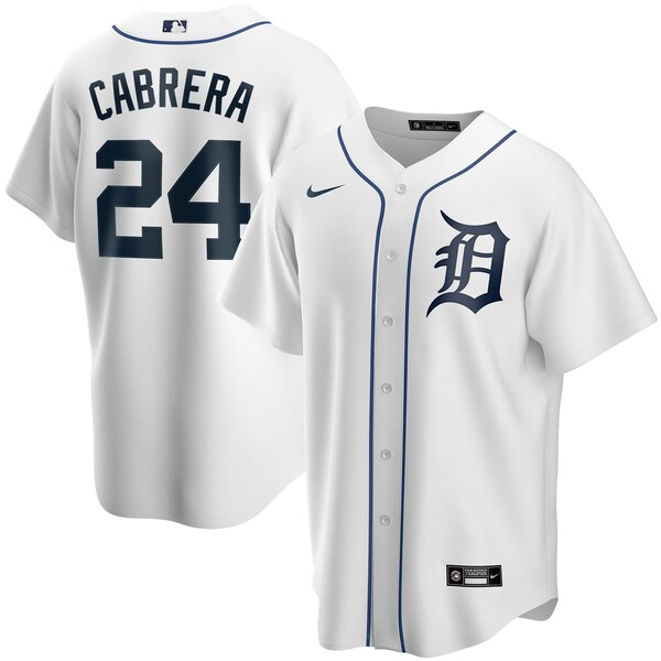 MLB ミゲル・カブレラ デトロイト・タイガース ユニフォーム/ジャージ 2020 レプリカ プレーヤー ナイキ/Nike ホワイト