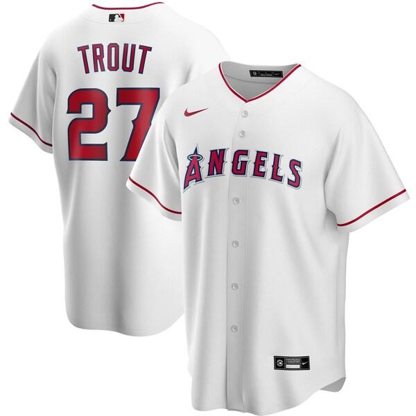 MLB マイク・トラウト ロサンゼルス・エンゼルス ユニフォーム/ジャージ 2020 レプリカ プレーヤー ナイキ/Nike ホワイト