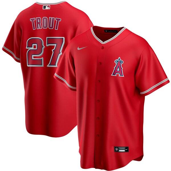 MLB マイク・トラウト ロサンゼルス・エンゼルス ユニフォーム/ジャージ 2020 レプリカ プレーヤー ナイキ/Nike レッド