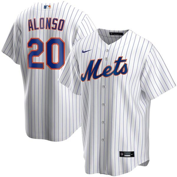 MLB ピート・アロンソ ニューヨーク・メッツ ユニフォーム/ジャージ 2020 レプリカ プレーヤー ナイキ/Nike ホワイト