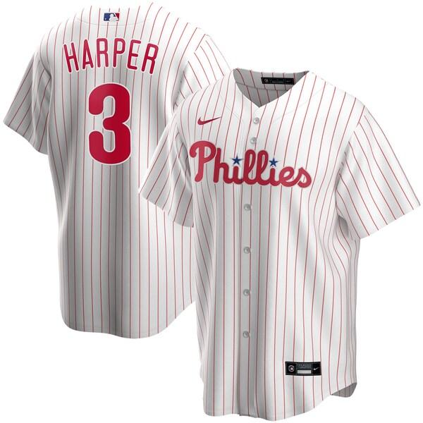 MLB ブライス・ハーパー フィラデルフィア・フィリーズ ユニフォーム/ジャージ 2020 レプリカ プレーヤー ナイキ/Nike ホワイト