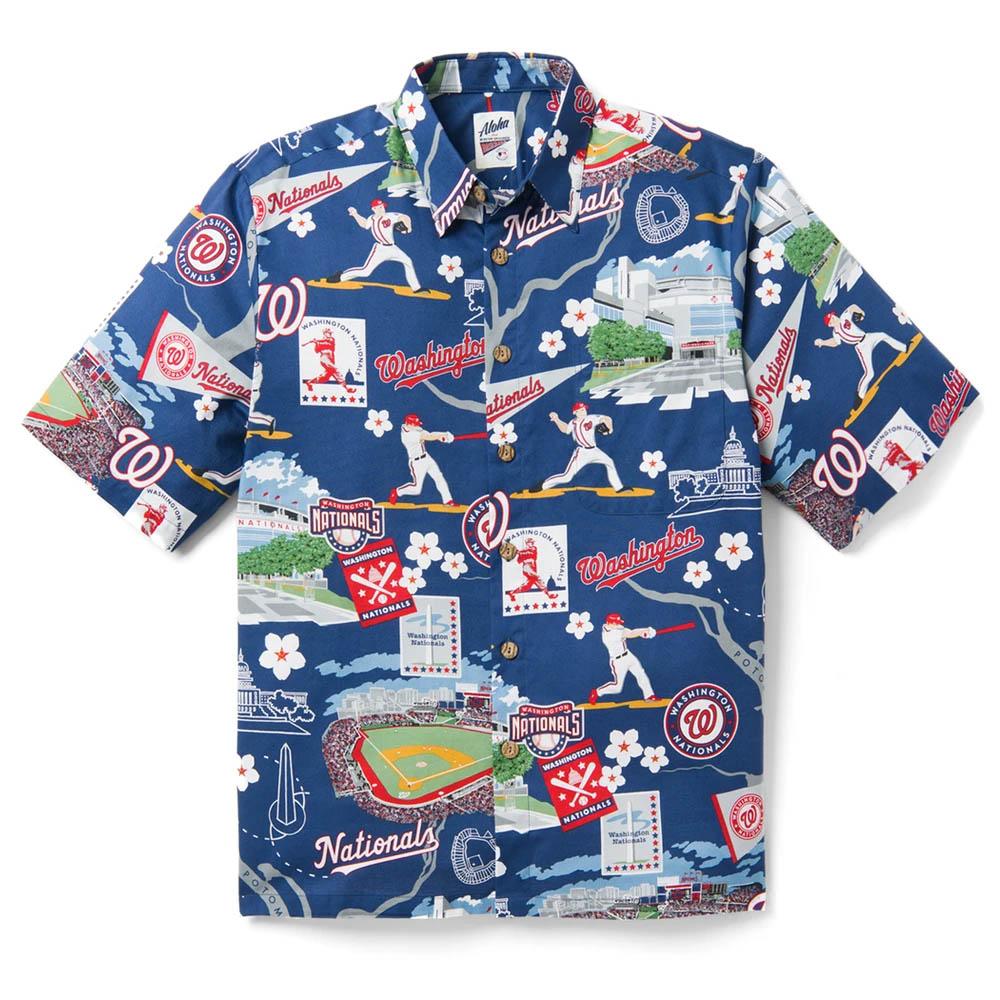 MLB ワシントン・ナショナルズ ホームタウン ハワイアン シャツ Reyn Spooner