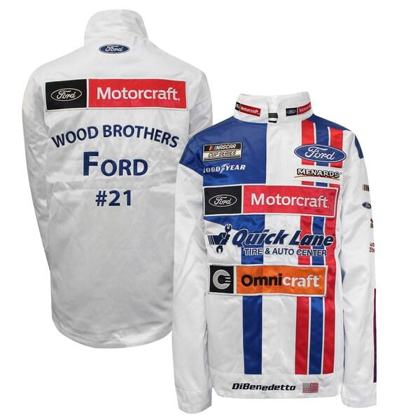 NASCAR マット・ディベネデット モータークラフト ジャケット/アウター Full Snap Pit Jacket SMI Properties ホワイト