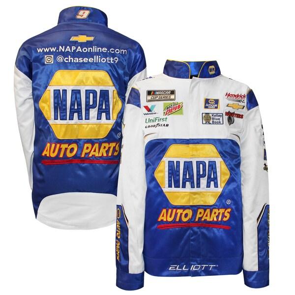 NASCAR チェイス・エリオット NAPAオートパーツ ジャケット/アウター Full Snap Pit Jacket SMI Properties ブルー
