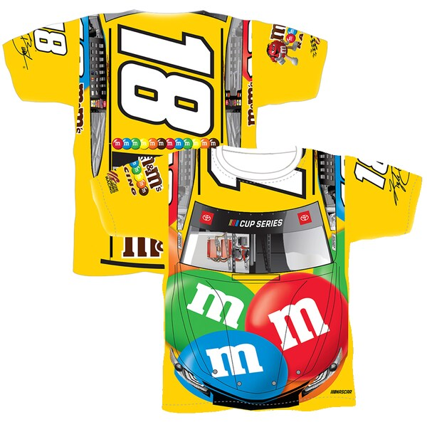 NASCAR カイル・ブッシュ Tシャツ Sublimated Car Wrap T-Shirt SMI Properties イエロー