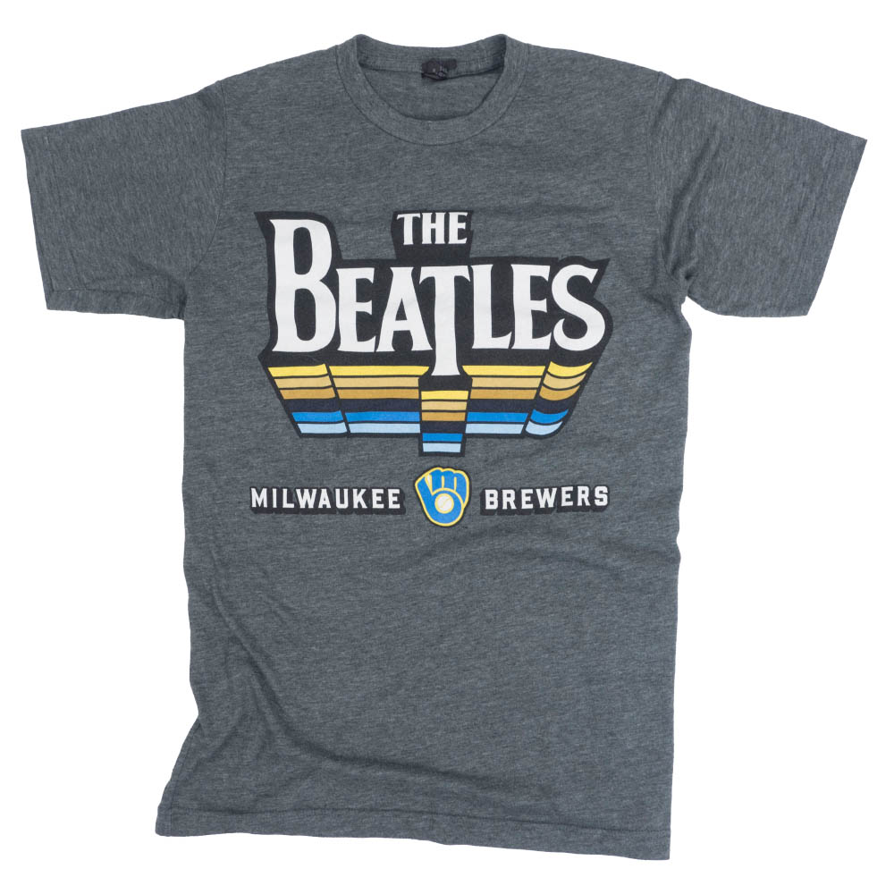 MLB ミルウォーキー・ブリュワーズ Tシャツ 2017 ザ・ビートルズ ナイト SGA グレー