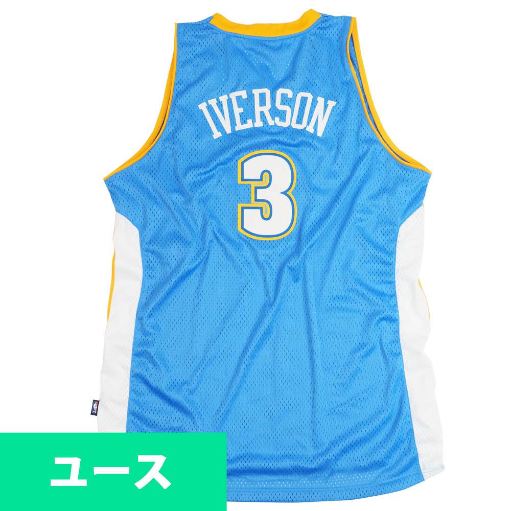 NBA アレン・アイバーソン デンバー・ナゲッツ ユニフォーム/ジャージ スウィングマン ユース キッズ アディダス/Adidas ロード