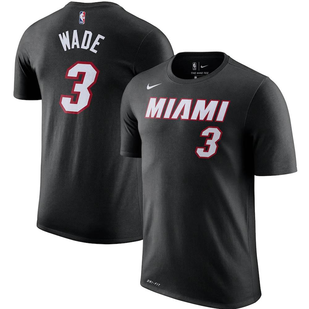 NBA ドウェイン・ウェイド マイアミ・ヒート Tシャツ プレーヤー ネーム & ナンバー ナイキ/Nike ブラック トレーニング特集
