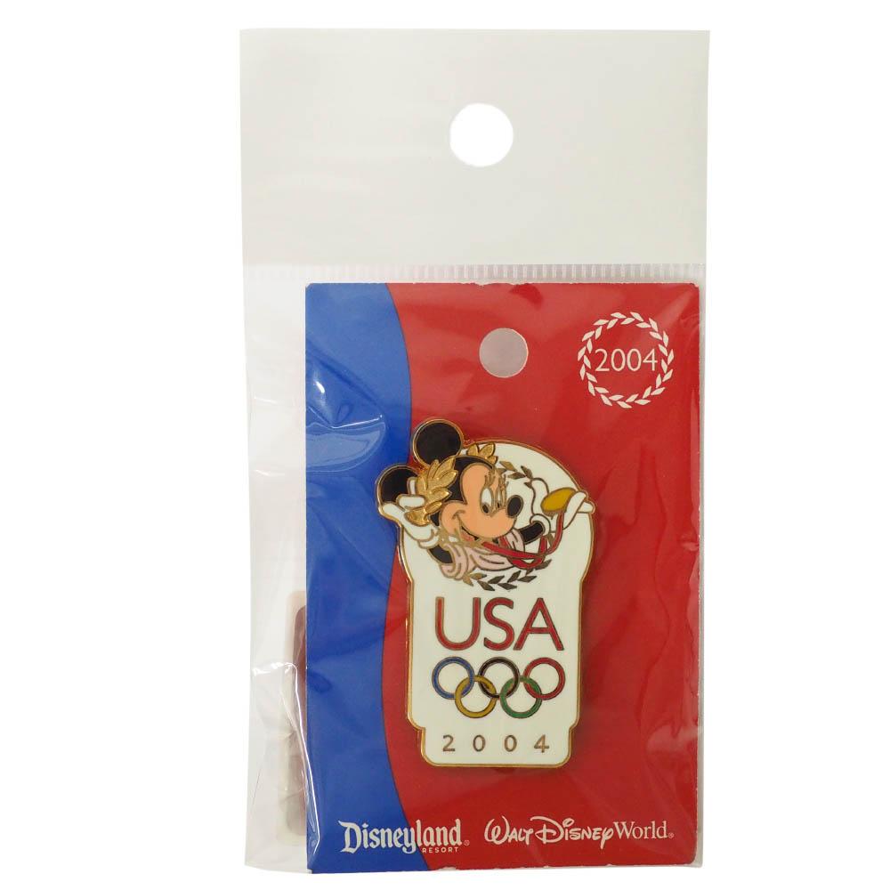 アメリカ代表 ディズニー 2004 アテネ USA Logo Pin : Minnie Mouse ピンバッチ ピンズ Disney