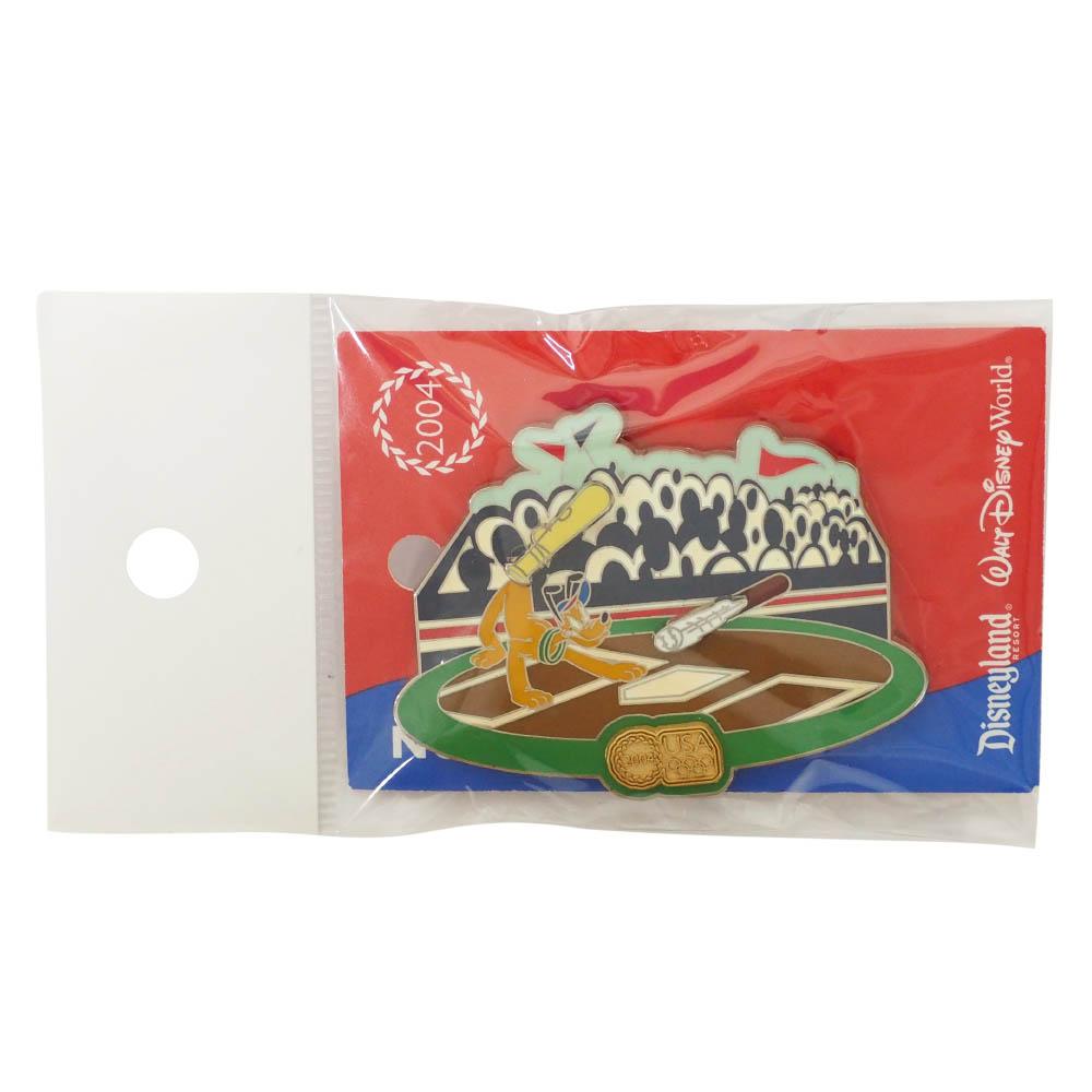 アメリカ代表 ディズニー 2004 アテネ USA Pin LE2004 アテネ : Baseball (Pluto) ピンバッチ ピンズ Disney