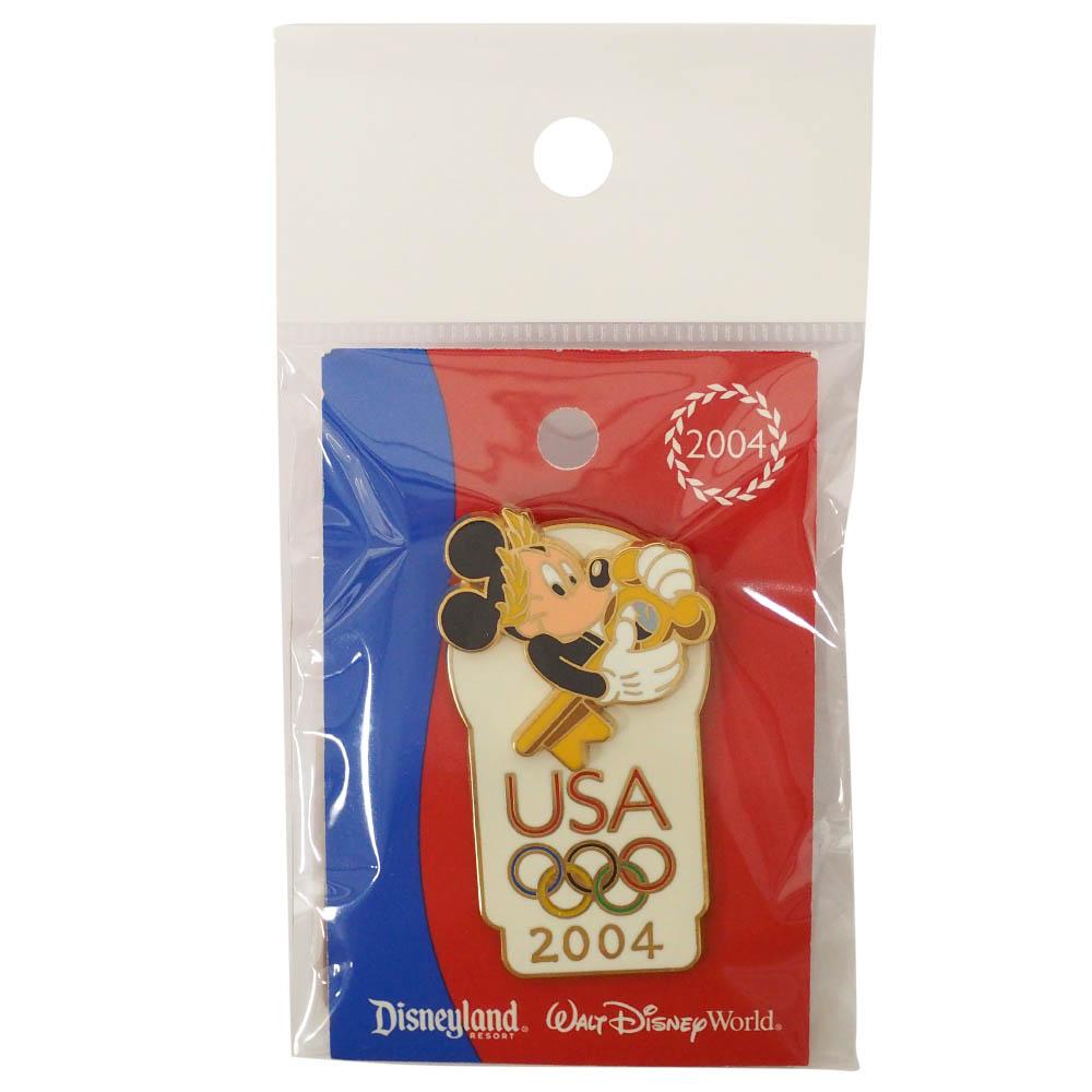 アメリカ代表 ディズニー 2004 アテネ USA Passholder Exclusive Pin : Mickey Mouse LE7500 ピンバッチ ピンズ Disney