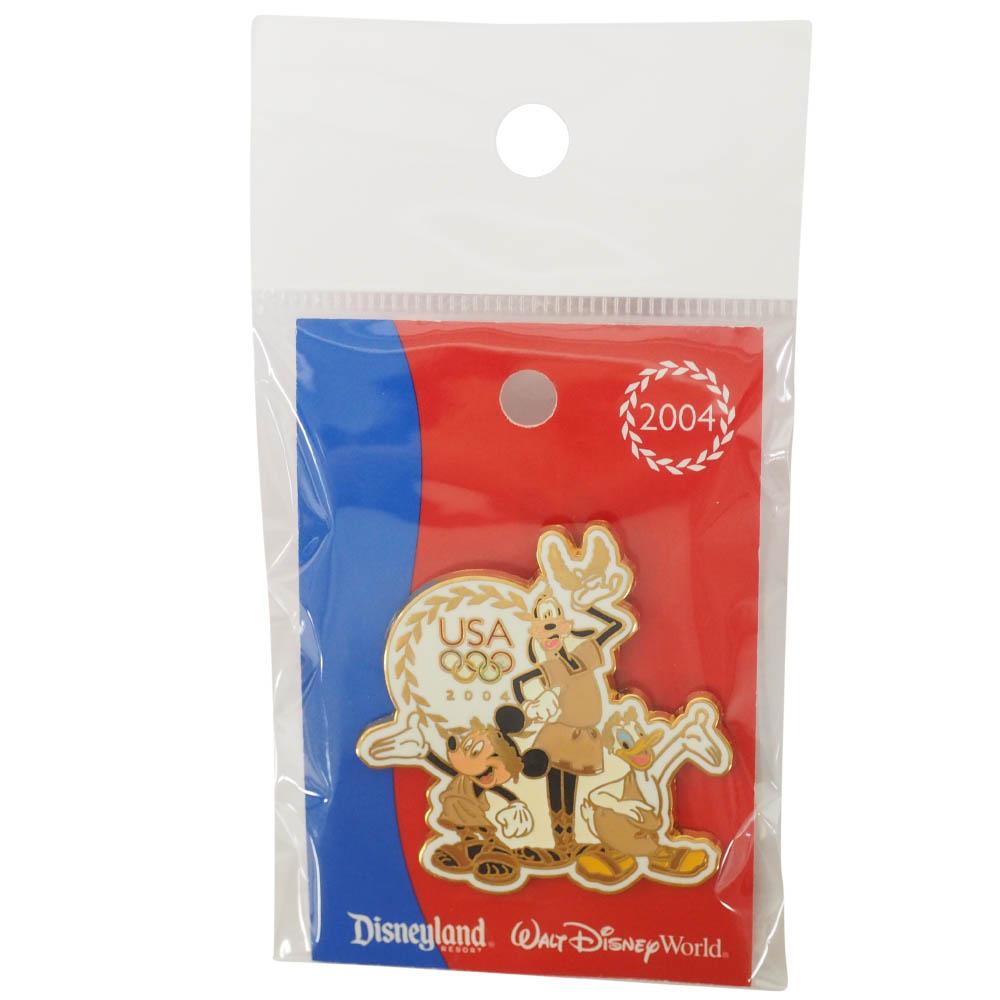 アメリカ代表 ディズニー 2004 アテネ USA Cast Exclusive Pin : Diving (Mickey, Goofy, Donald) ピンバッチ ピンズ Disney