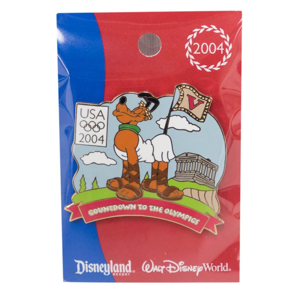アメリカ代表 ディズニー 2004 アテネ Countdown to the Olympics Pin : 5 (Pluto) LE750 ピンバッチ ピンズ Disney