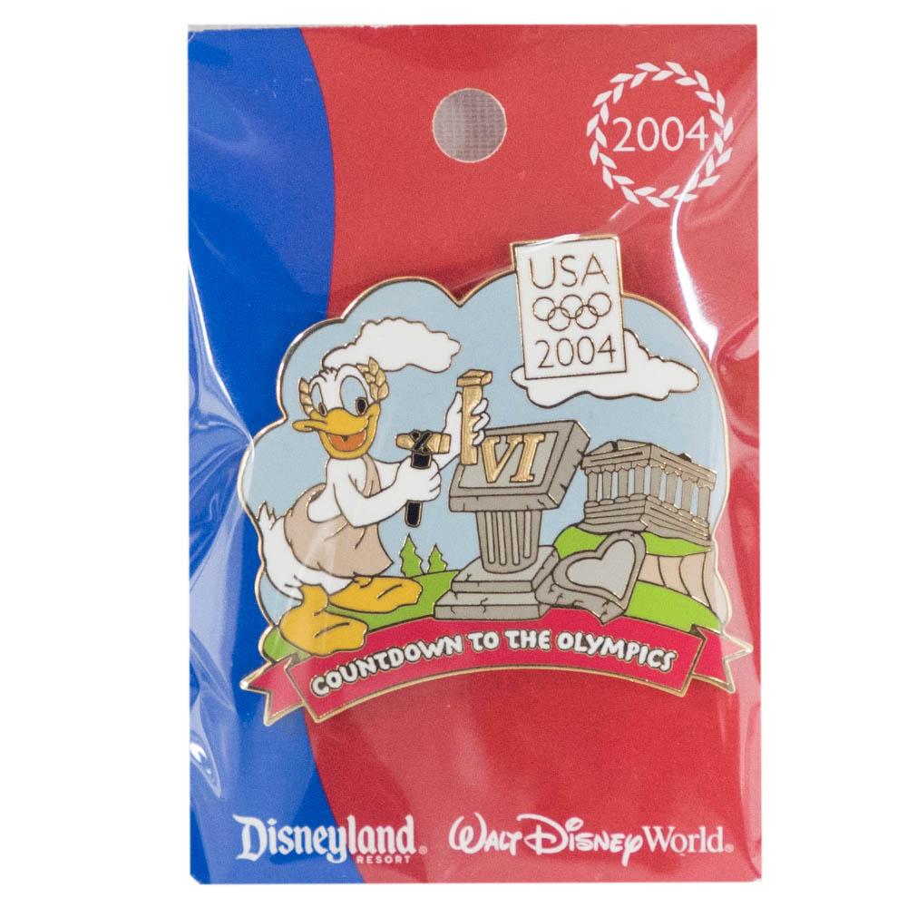 アメリカ代表 ディズニー 2004 アテネ Countdown to the Olympics Pin : 6 (Donald Duck) LE750 ピンバッチ ピンズ Disney