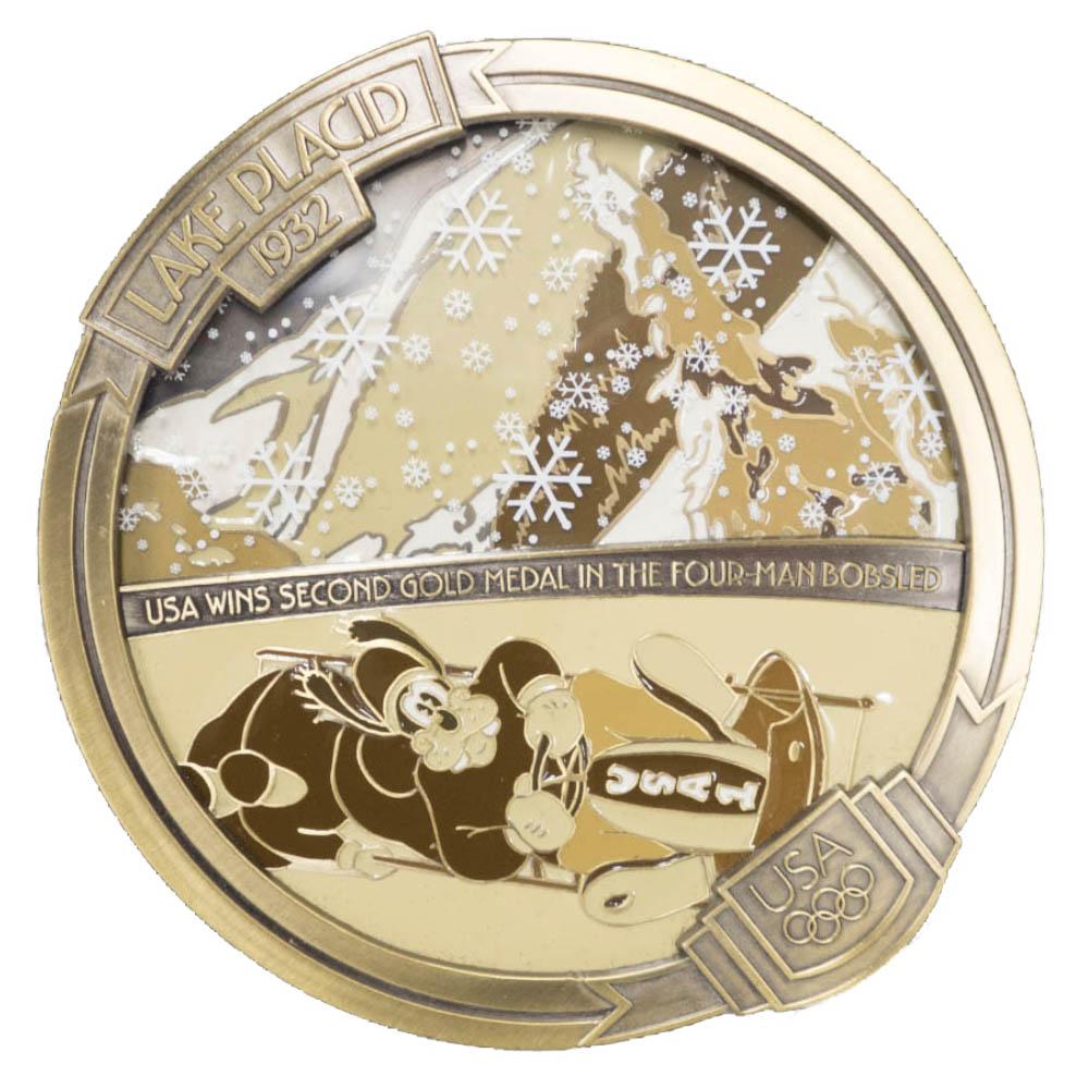 アメリカ代表 ディズニー USA Jumbo 2004 Pin LE 750 : 1932 レークプラシッド (Goofy) ピンバッチ ピンズ Disney