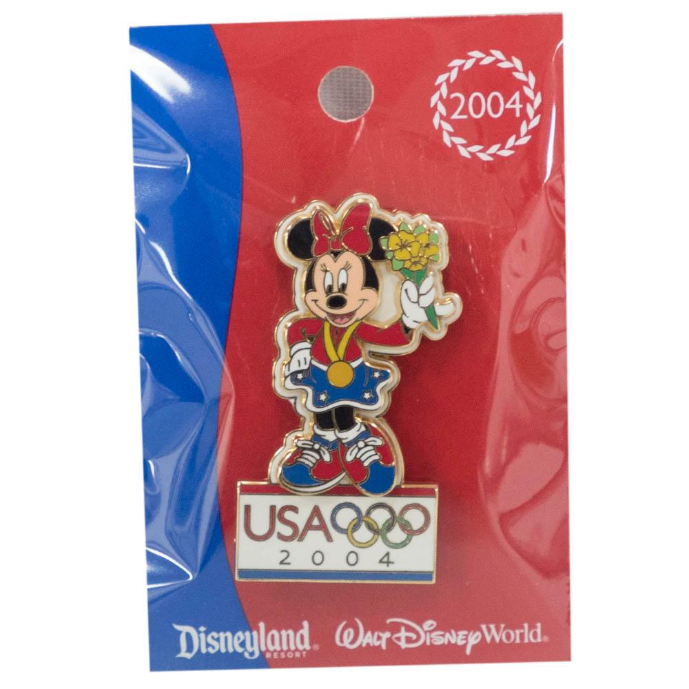 アメリカ代表 ディズニー Mickey's All American Pin : Minnie ピンバッチ ピンズ Disney