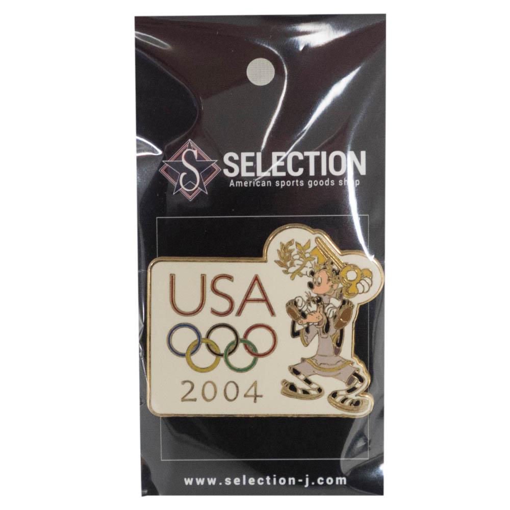 アメリカ代表 ディズニー 2004 アテネ USA Pin : Goofy Carrying Mickey Pin ピンバッチ ピンズ Disney