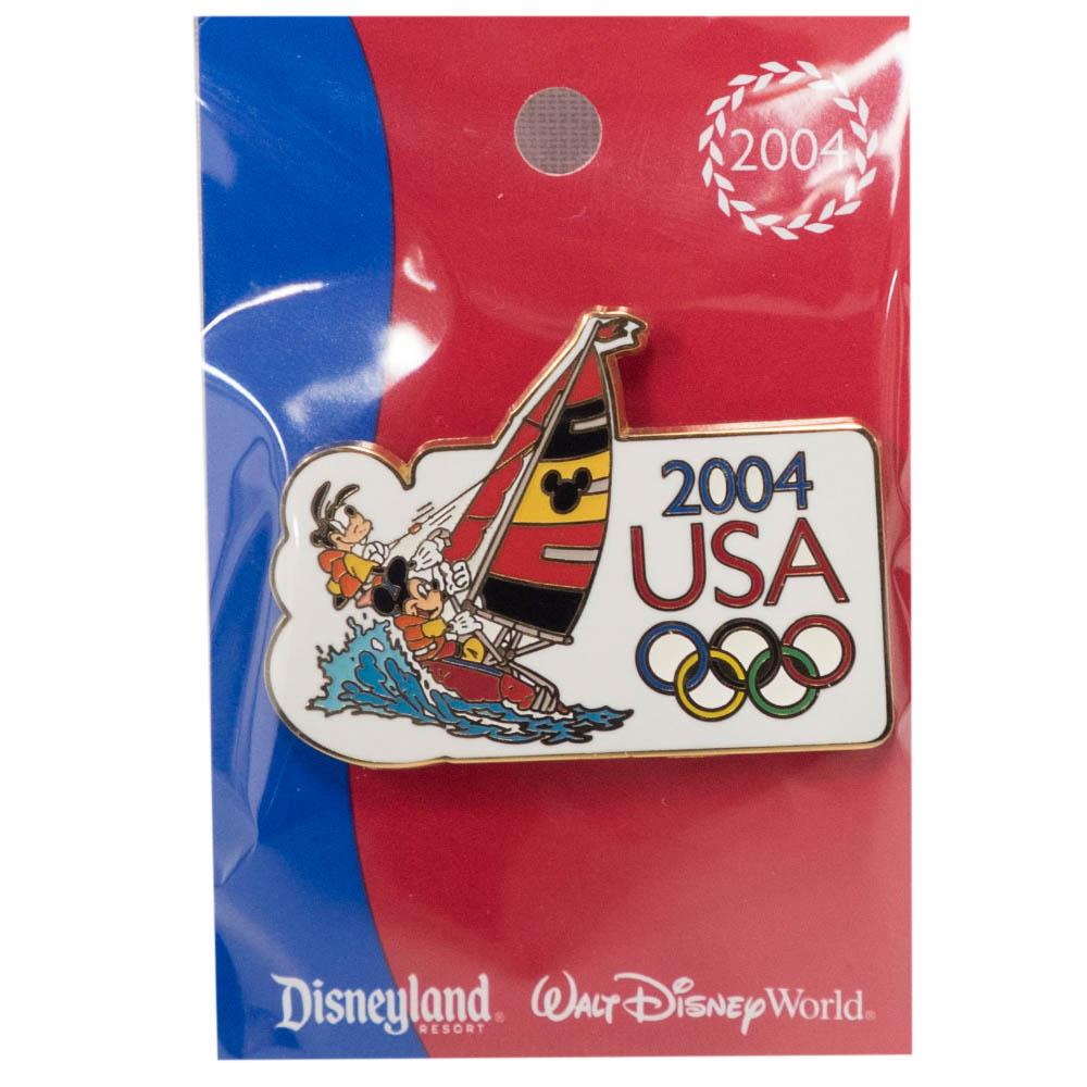 アメリカ代表 ディズニー 2004 アテネ USA Cast Exclusive Pin : Saling (Mickey and Goofy) ピンバッチ ピンズ Disney
