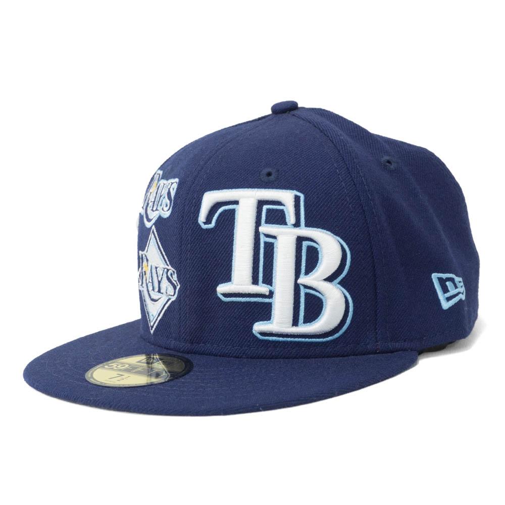 MLB タンパベイ・レイズ キャップ/帽子 3パック ロゴ 59FIFTY ニューエラ/New Era ネイビー