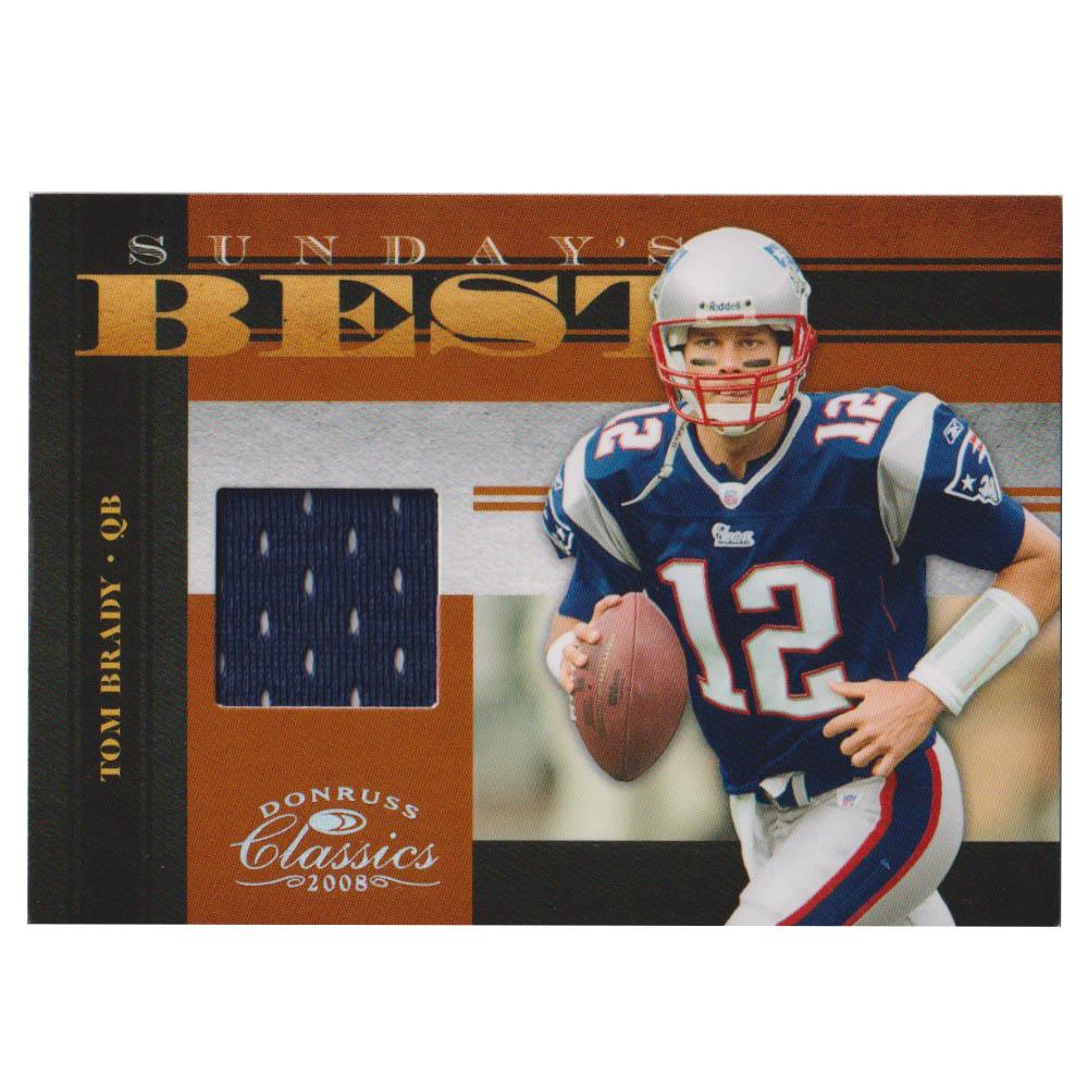 NFL トム・ブレイディ ペイトリオッツ トレーディングカード/スポーツカード 【1点物】2008 ジャージ カード 145/250 Donruss