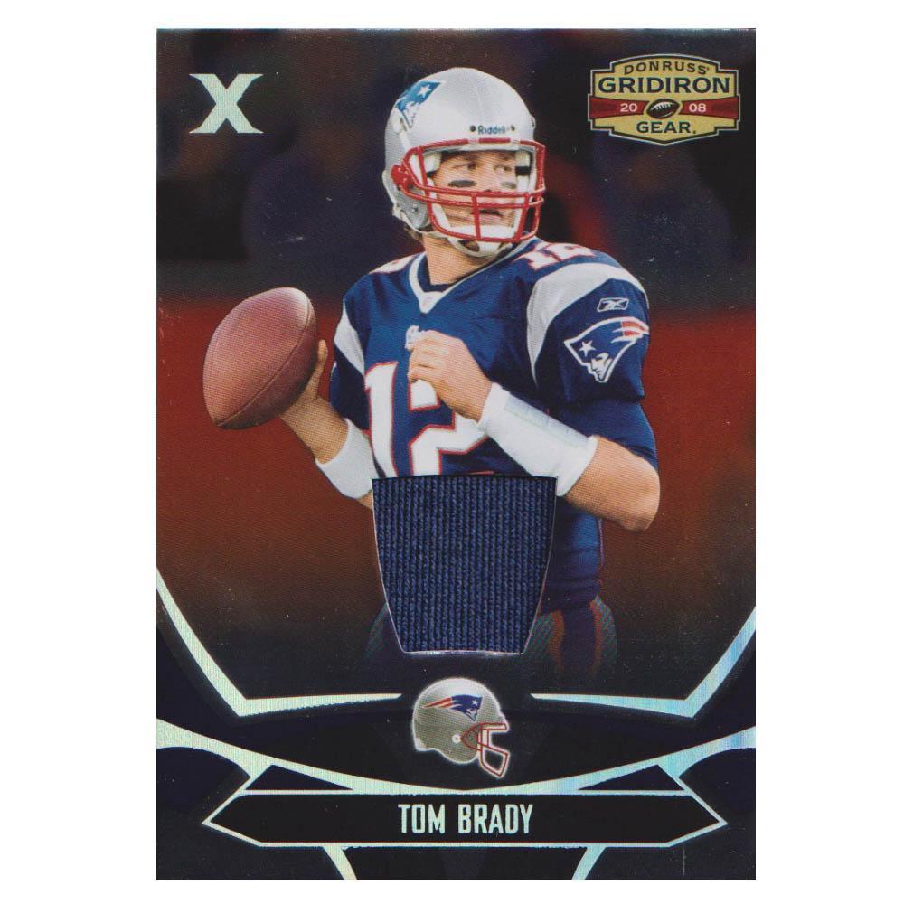 NFL トム・ブレイディ ペイトリオッツ トレーディングカード/スポーツカード 【1点物】2008 ジャージ カード 81/100 Donruss